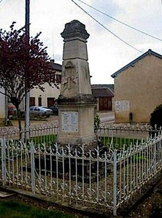 Balnot-sur-Laignes - War memorial