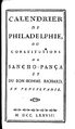Barbeu-Dubourg, Calendrier de Philadelphie (Titre).png