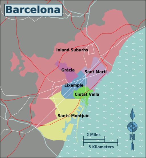 Barcelona city Planning: The Modern-day city.