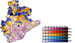 Barcelona (Congress of Deputies constituency) - Image: Barcelona Municipal Map Congress 2016