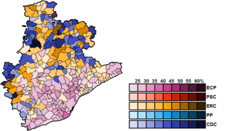 Barcelona (Congress of Deputies constituency) - Image: Barcelona Municipal Map Congress 2016