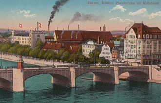 Daig (Switzerland) - Postcard from 1910 depicting the fledgling chemical industry developing at the time.