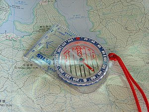 History of orienteering - Protractor compass, first introduced in Sweden in 1933.