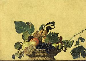 1599 in art - Image: Basket of Fruit Caravaggio (c.1595)