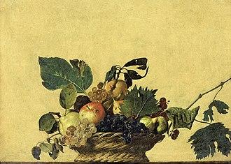 1599 in art - Image: Basket of Fruit Caravaggio (c.1595)