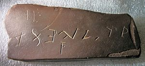 Bat Creek inscription - The Bat Creek inscription.