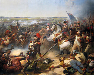 Flanders Campaign - French commander Jourdan at the Battle of Fleurus. 1837 painting by Mauzaisse.
