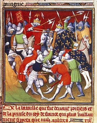 Hélie de Talleyrand-Périgord (cardinal) - Battle of Poitiers, 1356
