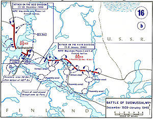 Battle of Suomussalmi - Image: Battle suomussalmi