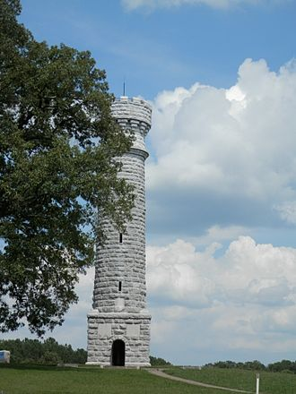 Chickamauga and Chattanooga National Military Park - Memorial to Col. John T. Wilder at the Chickamauga unit.
