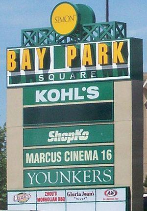 Bay Park Square - Entrance sign