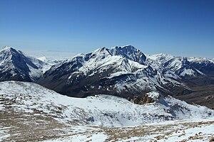 Bazardüzü, highest peak of Azerbaijan, as seen...