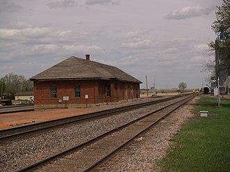 Beach, North Dakota - Beach train station