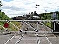 Bedale railway station, view towards Leeming Bar, Wensleydale Railway, North Yorkshire.jpg