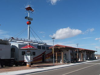 Belen (Rail Runner station) - The platform of Belen station