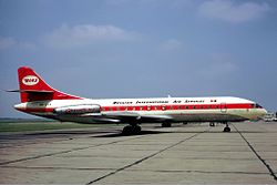 Caravelle der Belgian International Air Services