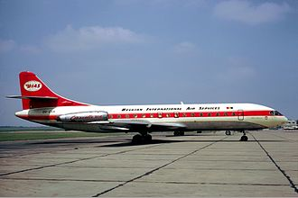 Belgian International Air Services - A BIAS Sud Aviation Caravelle at Paris–Le Bourget Airport in 1972.