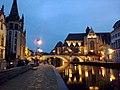Belgique Gand Graslei Pont Saint-Michel Eglise Saint-Michel - panoramio.jpg
