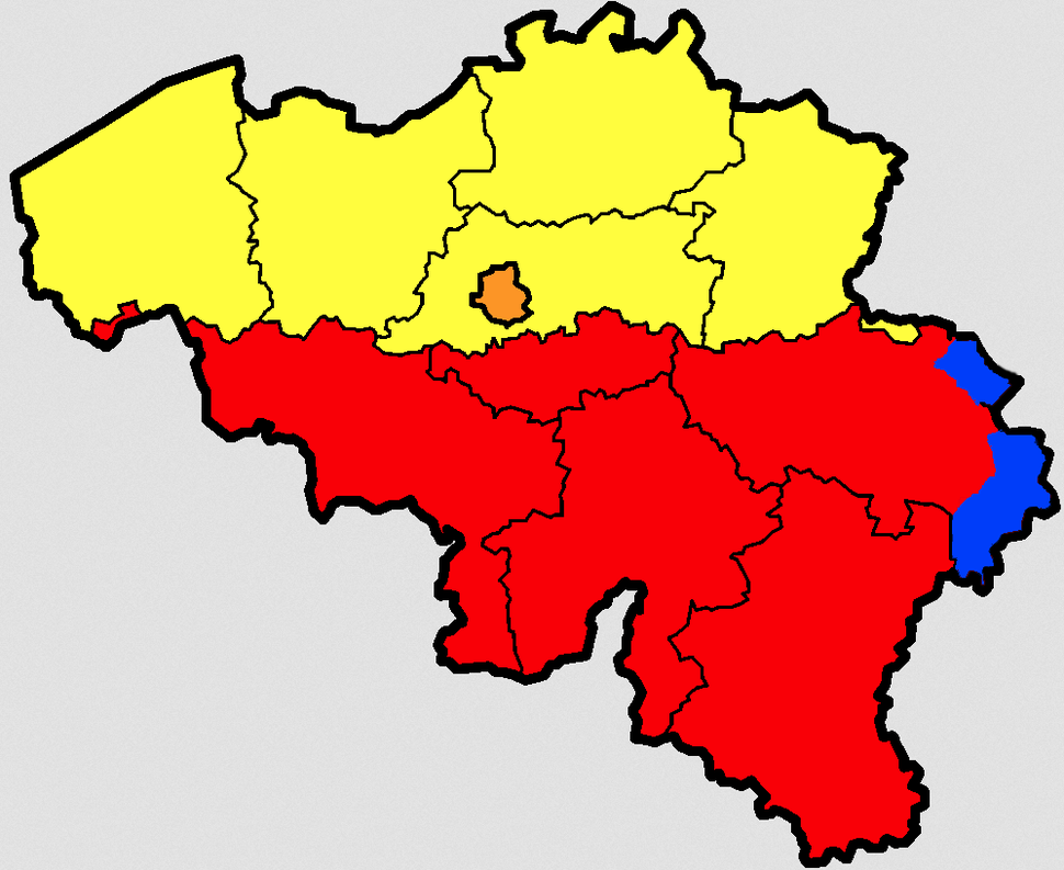 Belgium provinces regions striped