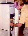 Belize City 1975 - Barracks Road House - Beer in the fridge.jpg