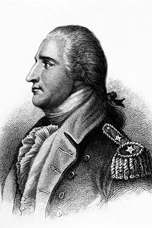 Battle of Ridgefield - General Benedict Arnold Copy of engraving by H.B. Hall after John Trumbull