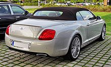 Bentley Continental GTC Speed 20090720 rear.JPG