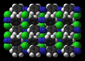 Benzenediazonium chloride - Image: Benzenediazonium chloride xtal 3D vd W