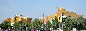 Kulturforum - Philharmonie and Chamber Music Hall, designed by Hans Scharoun