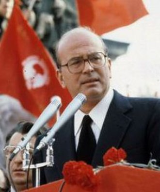 Bettino Craxi - Craxi during a PSI rally