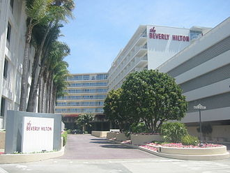 The Beverly Hilton - Entrance to the Beverly Hilton Hotel