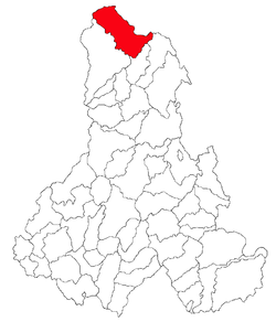 Location of Bilbor, Harghita