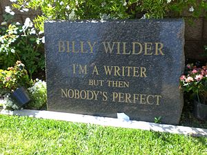 Billy Wilder - Wilder's gravestone