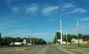 Biron, Wisconsin - Looking east at Biron on WIS 54