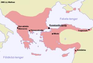 bizánc térkép Bizánci Birodalom – Wikipédia