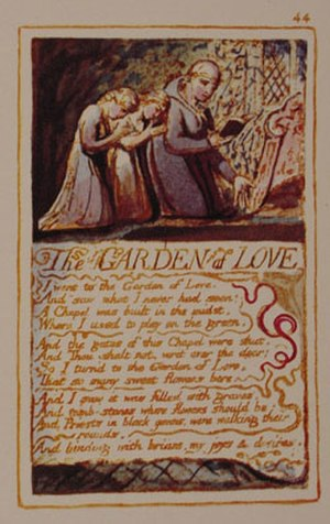 The Garden of Love (poem) - Original plate and artwork by William Blake