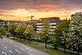 Blick auf die Hegelstraße von der Fußgängerbrücke am Parkhaus Metropol in Tübingen.jpg