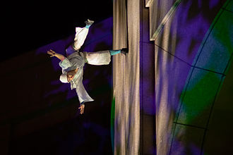 Aerial dance - Blue Lapis Light performance at Texas State History Museum