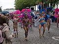 Blue and pink samba dancers from Samba Carioca at Helsinki Samba Carnaval 2015.jpg
