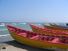 Boats at the Caspian Sea Beach.jpg