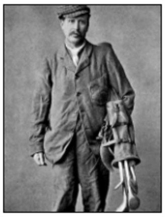 Bob Pringle (golfer) - Scottish golfer Bob Pringle, shown holding his clubs c. 1875