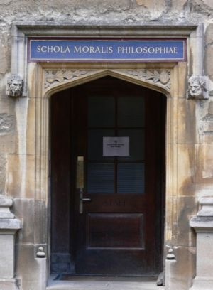 Bodleian Library - Doorway to the Schola Moralis Philosophiae (School of Moral Philosophy) at the Bodleian Library (now the staff entrance to the Schools Quadrangle)