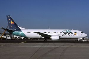Garuda Indonesia Flight 200 - The aircraft involved in the accident while in operation with another airline