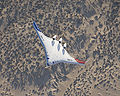 Boeing X-48B banks in flight over Edwards AFB.jpg