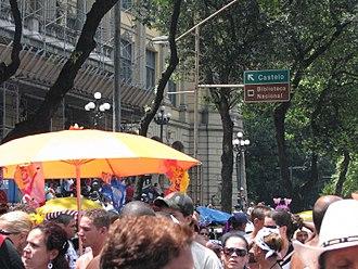 Rio Carnival - Cordão da Bola Preta, the oldest street block of Rio de Janeiro's Carnival.
