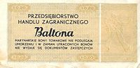 Bon baltonowski 20c r