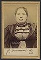 Borreman. Léontine, Eugénie. 23 ans, née à Paris le 25-12-70. Papetière. Anarchiste. 13-3-94. MET DP290202.jpg
