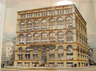 Boston Building - Image: Boston building historic drawing