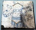 Bottega di antonio fedeli, mattonelle dallo studiolo di isabella d'este, pesaro 1493-94, 08 guanto.JPG