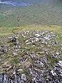 Boulder field and surface strata, Choire nan Eiricheallach - geograph.org.uk - 187544.jpg