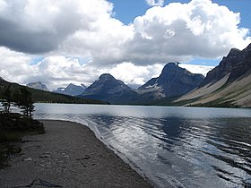 Le lac Bow dans le Parc national Banff.